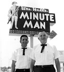 Minute Man was on College with great Hickory burgers and deep dish radar pies.  Thanks to Fayetteville Flyer for the photo